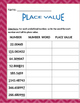 Math: Place Value - Determining place value on both sides of the decimal. 7 pgs.