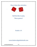 Guided Math Place Value Dice Activity for Second Grade