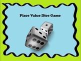 Place Value Dice Activity