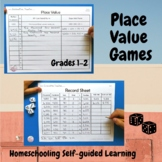 Place Value Dice Game Grades 1-2