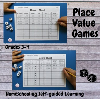 Place Value Dice Game Grades 3-4