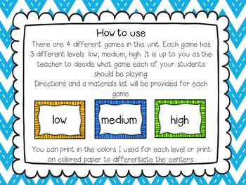 Place Value Differentiated Games-CCSS