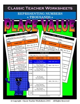 Place Value-Different Ways Represent Numbers-Thousands-Grade 3-4 (3rd-4th Grade)