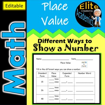 Place Value- Different Ways to Show a Number