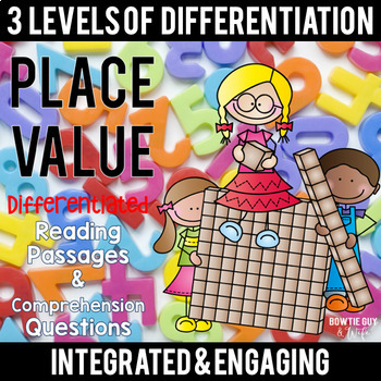 Place Value Differentiated Reading Passages & Questions {Let's READ about MATH!}
