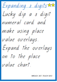 Place Value Differentiated Task Cards