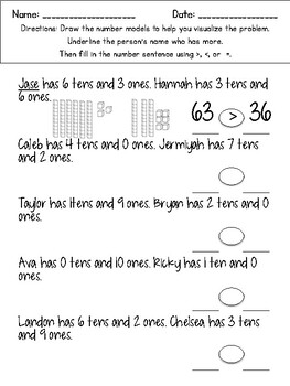 Place Value Differentiated Worksheets (Plus Expanded Form & Comparing Numbers)