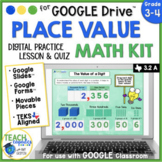 Place Value Digital Activities and Quiz for Google Classroom™
