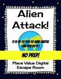 Place Value Digital Escape Room - Alien Attack - No Prep