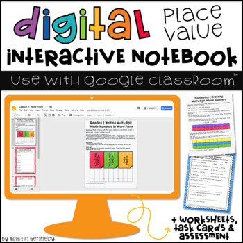 Place Value Digital Interactive Notebook: Google Classroom™ Activities