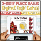 Place Value Task Cards Digital BOOM Cards for 2nd