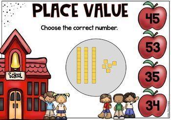Place Value Task Cards Digital BOOM Cards DIFFERENTIATED Bundle