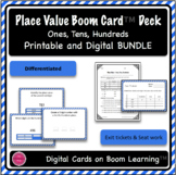 Place Value Ones, Tens, Hundreds Digital and Printable Task Cards BUNDLE