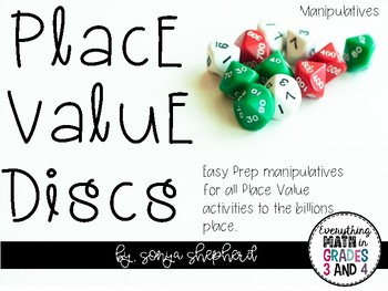 Place Value Disc Manipulatives