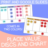 Place Value Discs & Chart | Cute Colors | Printable + Digi