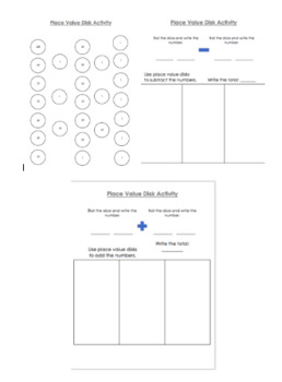 Place Value Disks Addition and Subtraction