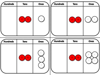 Place Value Disks Cards