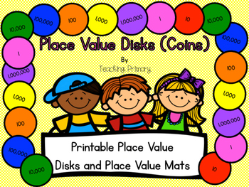 graphic about Place Value Disks Printable known as Position Great importance Disks Centre Worksheets Schooling Supplies TpT