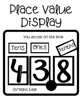 Place Value Display (Black & White)