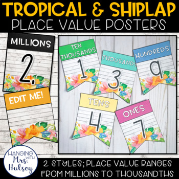 Place Value Display (Tropical and Shiplap)