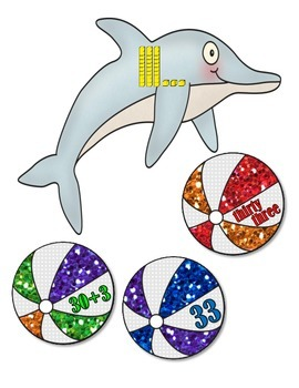 Place Value:  Dolphins and Beach Balls to 120
