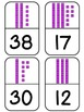 Place Value Base Ten Blocks Dominoes Math Game