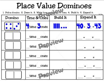 Place Value Dominoes FREEBIE