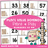 Place Value Dominos Math Center Game - Tens and Ones