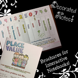 Place Value - Doodle Notes Brochure for Interactive Notebooks