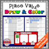 Place Value Activity Draw and Color Base Ten Blocks Digita