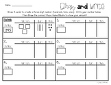 Place Value: Draw and Write: Hundreds / Tens / Ones
