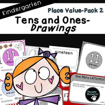 Place Value Drawing-Pack 2 (Kindergarten-K.NBT.1)