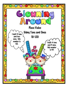 Place Value ( Drawing and Visual Discrimination) 10  to 120 /Clowns