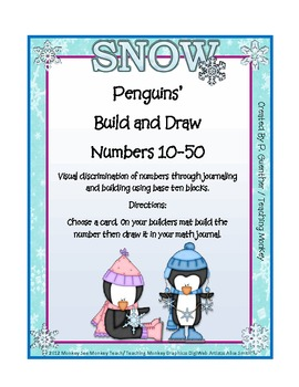 Place Value ( Drawing and Visual Discrimination) 10  to 50 /Penquins