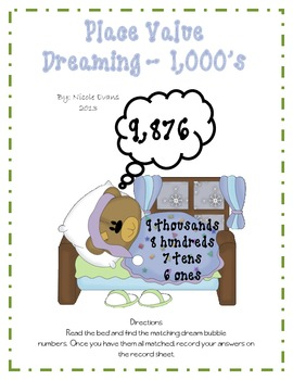 Place Value Dreaming - 1,000's