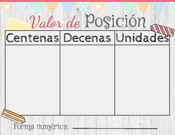 Place Value English & Spanish/ Valor de posición