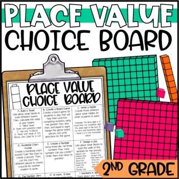 place value enrichment activities math menu choice board by rh teacherspayteachers com Place Value Chart Place Value Chart