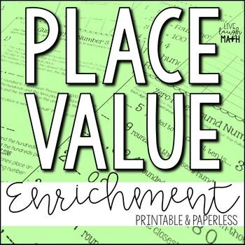Place Value Enrichment: Place Value Logic Puzzles