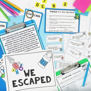 Place Value Escape Room - A Place Value Game