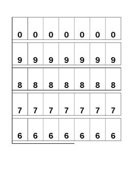 Place Value Excel Sheet
