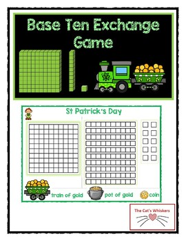 Place Value Exchange Game St Patrick's Day
