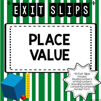 Place Value & Rounding Exit Slips