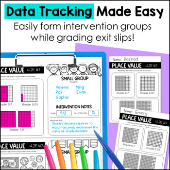 Place Value Exit Slips 4th Grade TEKS by Marvel Math