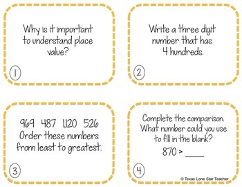Place Value Exit Slips FREEBIE