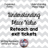 Understanding Place Value - Reteach and Place Value Exit Tickets