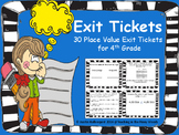 Place Value Exit Tickets- 4th Grade