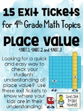 Place Value Exit Tickets - Set of 15 - for 4th Grade