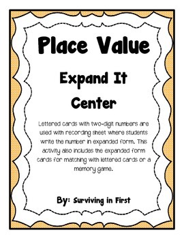 Place Value Expand It Center