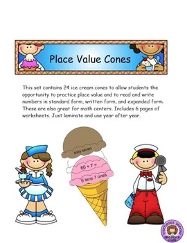 Place Value Expanded Form 2 Centers