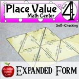 Place Value Expanded Form Self Checking Math Center Activity with Google Slides